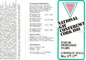 National Gay Conference Leaflet