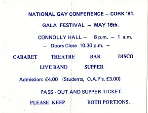 Ticket 1981 Gala Ball